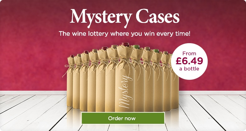 Mystery Cases. The wine lottery where you win every time! From £6.99 a bottle. Order now.