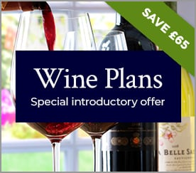 Wine Plans. Special introductory offer. SAVE £65.