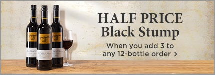 HALF PRICE Black Stump - When you add 3 to any 12-bottle order >