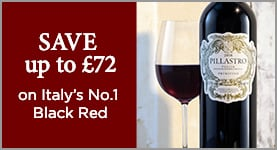 SAVE up to £72 on Italy's No.1 Black Red