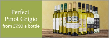 Perfect Pinot Grigio from £6.99 a bottle