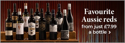 Favourite Aussie reds from just £7.99 a bottle
