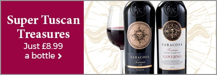 Super Tuscan Treasures - Just £8.99 a bottle