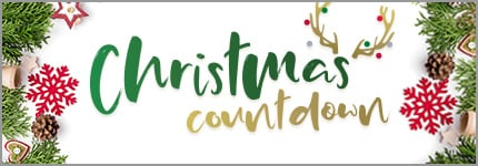 The Christmas Countdown - Christmas decorations and Reindeer antlers