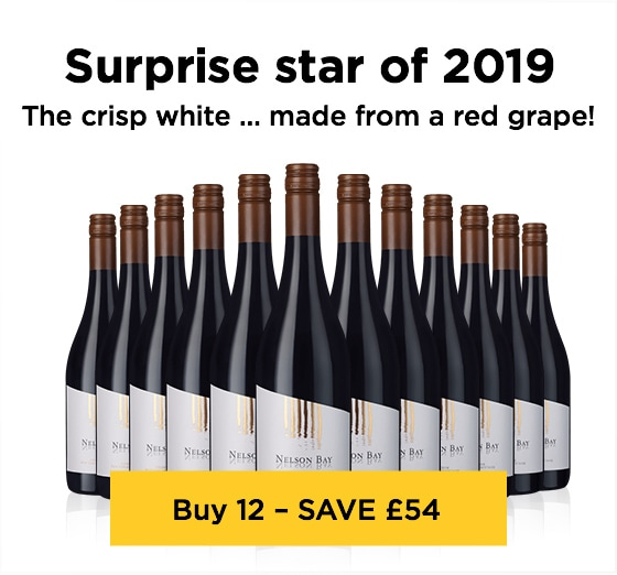Surprise star of 2019 The crisp white … made from a red grape! - Buy 12 – SAVE £54