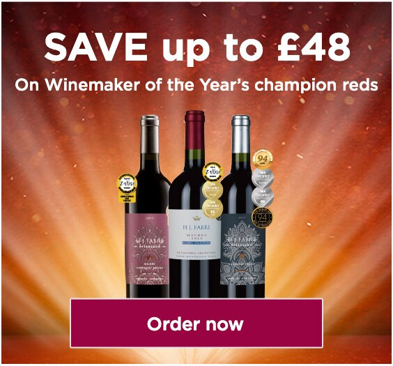 SAVE up to £48,on Winemaker of the Year's champion reds.