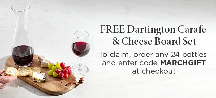 FREE Dartington Carafe & Glasses To claim, order any 24 bottles and enter code MARCHGIFT at checkout