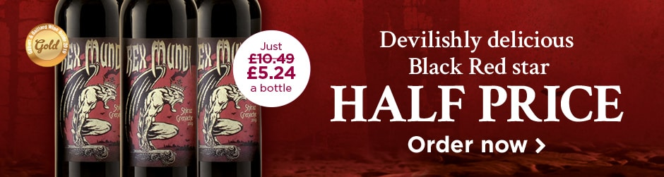 Devilishly delicious Black Red star HALF PRICE