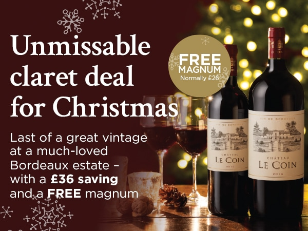 Umissable claret deal for Christmas - Last of great vintage at a much-loved Bordeaux estate - with a £36 saving and a FREE magnum
