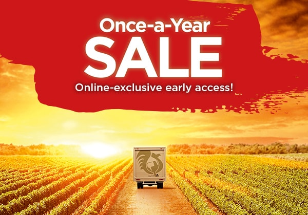 Once-a-year SALE - online-exclusive early access!