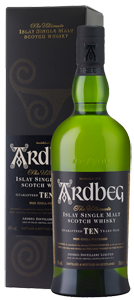 Ardbeg 10-year-old Single Malt Scotch Whisky (70cl in gift box)