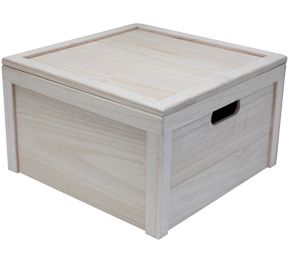 6 bottle wine box (wood) with outer carton