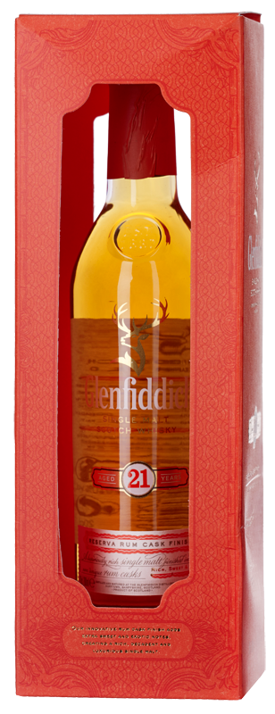 Glenfiddich 21-year-old Single Malt Scotch Whisky (20cl in gift box) NV