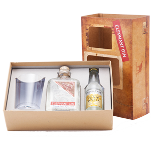 Elephant London Dry Gin Gift Set with tonic and glass (50cl)