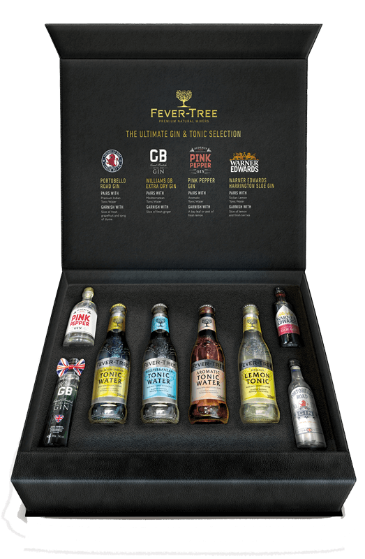 Fever tree craft gin experience gift pack 4x20cl tonics for Craft cocktail gift set