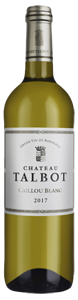 Chateau Talbot Caillou Blanc 2017