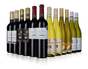 Deluxe red and white wine selection