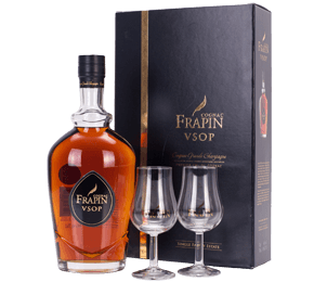 Frapin VSOP Cognac and Glasses Gift Set NV