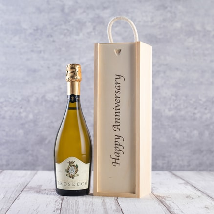 Happy Anniversary Box + Prosecco Gift