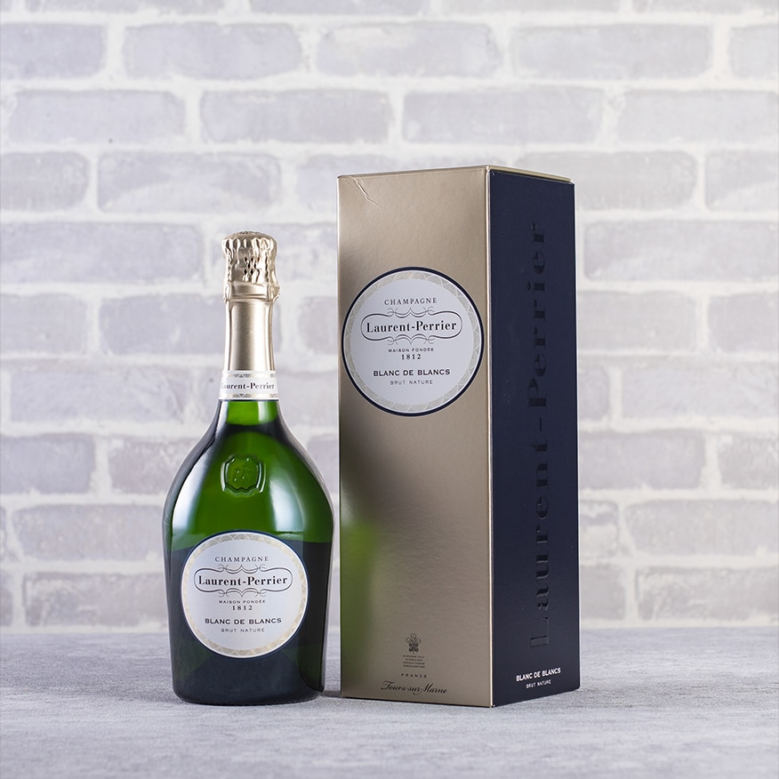 Champagne Laurent-Perrier Blanc de Blancs Brut Nature Gift