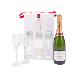Laurent-Perrier Brut NV Champagne and glasses Gift Set