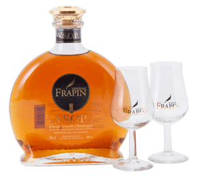 Frapin VSOP Cognac Gift Set with a 70cl bottle and 2 glasses