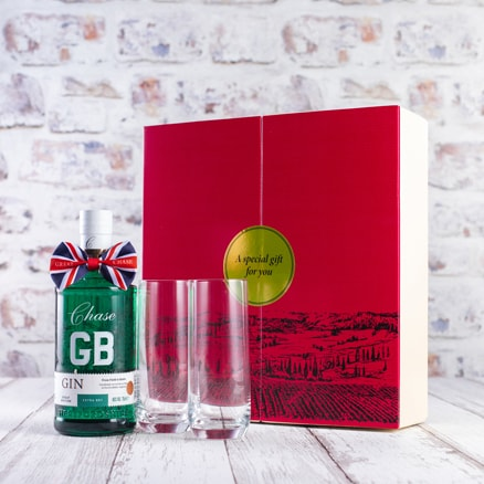 Chase GB Gin & highball glasses