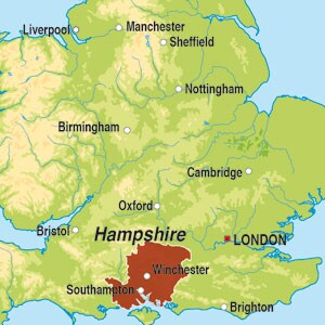 Map showing Hampshire