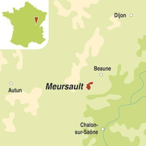 Map showing Meursault AOC