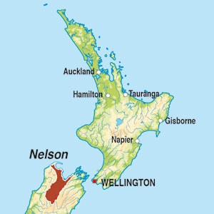Map showing Nelson