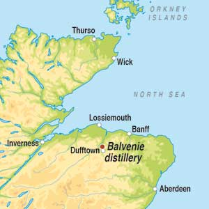 Map showing Speyside