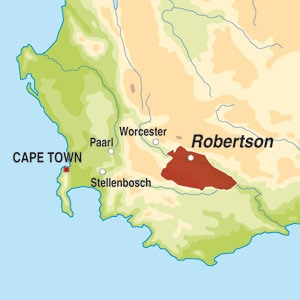 Map showing Robertson WO