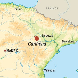 Map showing Carinena DO